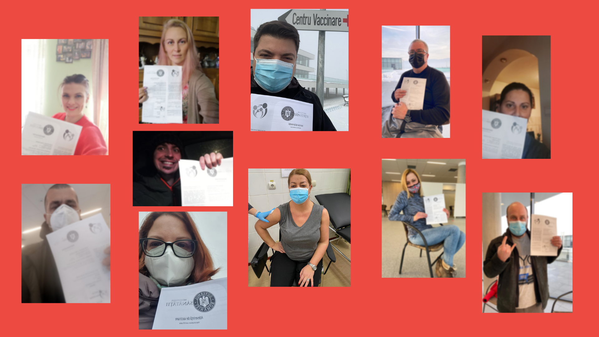 DHA Vaccination Selfie Collage